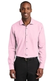 Red House Slim Fit Nailhead Non-Iron Shirt Pink Thumbnail