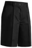 Women's Plain Front Chino Short Black Thumbnail
