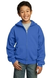 Youth Full-zip Hooded Sweatshirt Royal Thumbnail