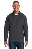 Tall Sport-wick Stretch 1/2-zip Pullover Charcoal Grey Thumbnail