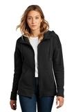 Women's Perfect Weight Fleece Drop Shoulder Full-Zip Hoodie Jet Black Thumbnail