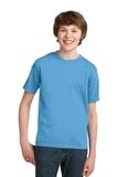 Youth Essential T-shirt Aquatic Blue Thumbnail
