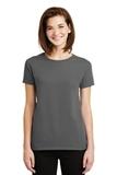 Women's Ultra Cotton 100 Cotton T-shirt Charcoal Thumbnail