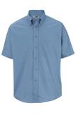 Men's Button Down Poplin Shirt SS Denim Blue Thumbnail