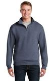 1/4-zip Cadet Collar Sweatshirt Vintage Heather Navy Thumbnail