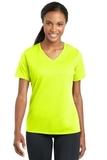 Women's Racermesh V-neck Tee Neon Yellow Thumbnail
