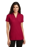 Women's Silk Touch Y-Neck Polo Shirt Red Thumbnail