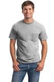 Ultra Cotton 100 Cotton T-shirt With Pocket Ash Thumbnail