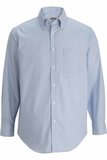 Redwood & Ross Men's No-iron Pinpoint Oxford Button Down Dress Shirt Blue with White Stripe Thumbnail