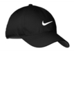 Nike Golf Dri-fit Swoosh Front Cap Black with White Thumbnail
