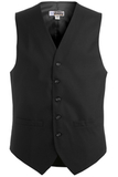 Men's Poly / Wool High Button Vest Black Thumbnail