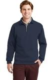Super Sweats 1/4-zip Sweatshirt With Cadet Collar Navy Thumbnail
