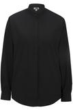 Women's Banded Collar Shirt Black Thumbnail