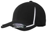 Flexfit Performance Colorblock Cap Black with White Thumbnail