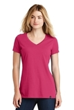 Women's New Era Heritage Blend VNeck Tee Deep Pink Thumbnail