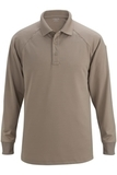 Edwards Tactical Snag Proof Unisex Long Sleeve Polo Shirt Silver Tan Thumbnail