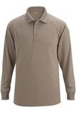 Edwards Tactical Snag Proof Unisex Long Sleeve Polo Shirt Silver Tan Thumbnail