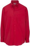 Men's Cotton Twill Rich Long Sleeve Twill Shirt Red Thumbnail