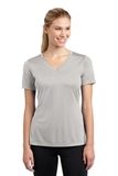 Women's V-neck Competitor Tee Silver Thumbnail