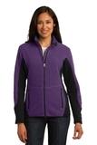 Women's Port Authority R-tek Pro Fleece Full-zip Jacket Purple Heather with Black Thumbnail