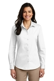 Women's Long Sleeve Carefree Poplin Shirt White Thumbnail