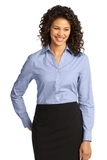 Women's Crosshatch Easy Care Shirt Chambray Blue Thumbnail