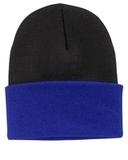 Knit Cap Black with Athletic Royal Thumbnail