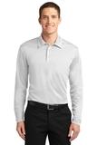 Silk Touch Performance Long Sleeve Polo White Thumbnail