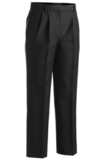 Women's Pleated Poly / Wool Pant Black Thumbnail