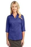 Women's 3/4-sleeve Blouse Mediterranean Blue Thumbnail