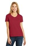 Women's V-neck T-shirt Deep Red Thumbnail