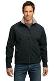 Port Authority Tall Glacier Soft Shell Jacket Black with Chrome Thumbnail