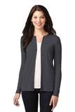 Women's Concept Stretch Button-Front Cardigan Grey Smoke Thumbnail