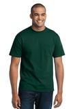 50/50 Cotton / Poly T-shirt With Pocket Dark Green Thumbnail