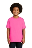 Youth Ultra Cotton 100 Cotton T-shirt Safety Pink Thumbnail