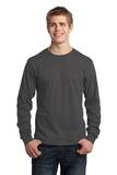 Long Sleeve 5.4-oz. 100 Cotton T-shirt Charcoal Thumbnail