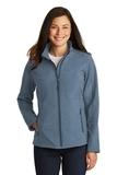 Women's Core Soft Shell Jacket Navy Heather Thumbnail
