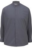 Men's Banded Collar Shirt Dark Grey Thumbnail