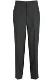 Edwards Men's Washable Wool Flat-front Dress Pant Black Thumbnail