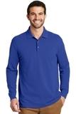 EZ-Cotton Long Sleeve Polo True Royal Thumbnail