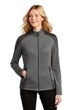 Ladies Grid Fleece Jacket Grey Smoke Heather with Grey Smoke Thumbnail