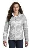Women's The North Face ThermoBall Trekker Jacket TNF White Woodchip Print Thumbnail