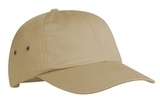 Fashion Twill Cap With Metal Eyelets Khaki Thumbnail