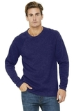 BELLACANVAS Unisex Sponge Fleece Raglan Sweatshirt Navy Triblend Thumbnail