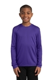 Youth Long Sleeve Competitor Tee Purple Thumbnail