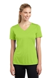 Women's V-neck Competitor Tee Lime Shock Thumbnail