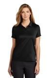 Women's Nike Golf Dry Essential Solid Polo Black Thumbnail