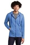 Tri-Blend Wicking Fleece Full-Zip Hooded Jacket True Royal Heather Thumbnail