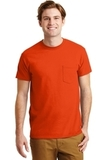 Ultra Blend 50/50 Cotton / Poly T-shirt With Pocket Orange Thumbnail