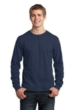 Long Sleeve 5.4-oz. 100 Cotton T-shirt Navy Thumbnail